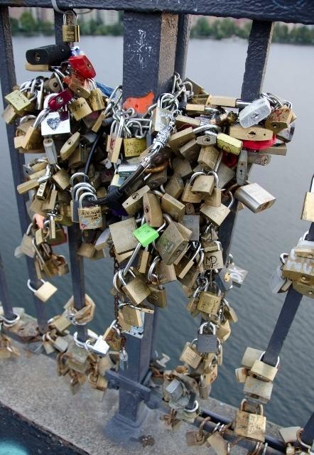 Love padlocks Stockholm