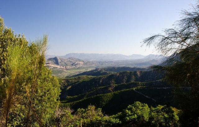 The landscape near Dorgali, Sardinia, Italy