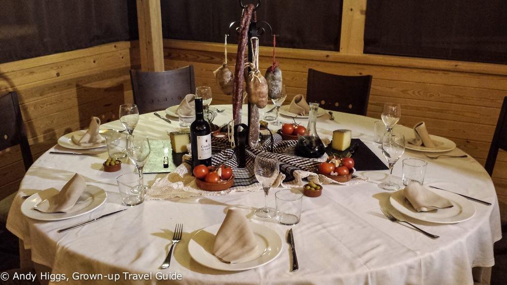 First course at Hotel Solineu restaurant, La Molina