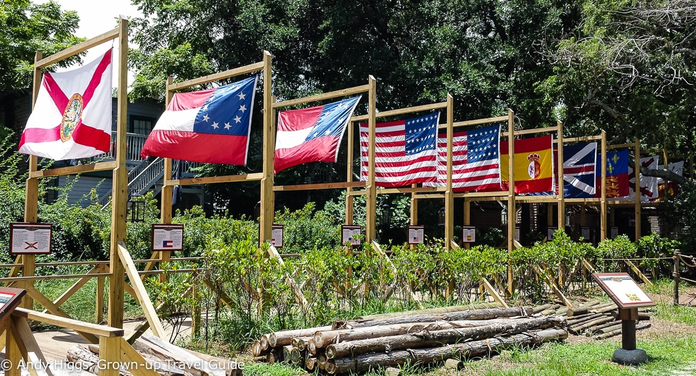 Flags over St Augustine