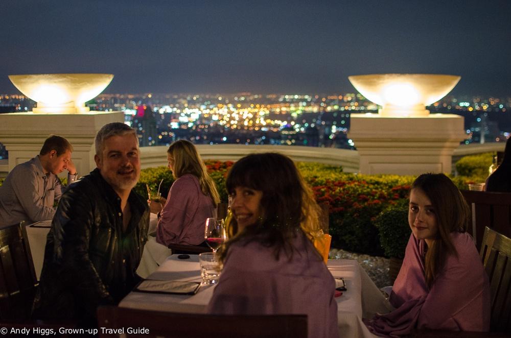 Scirocco Skybar Lebua Dinner