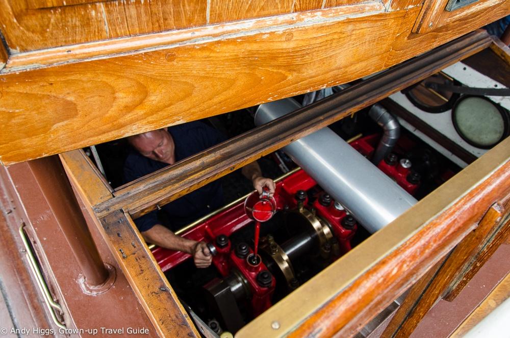 Hjejlen engine room