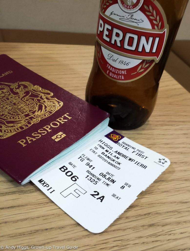 Passport and beer