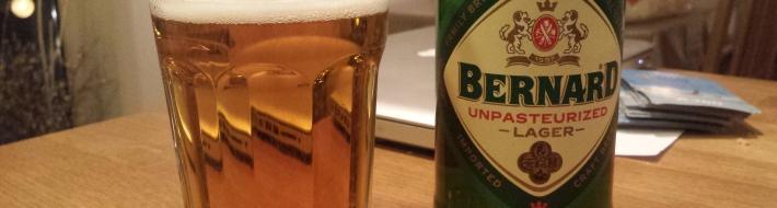 Grown-up Travel Guide Beer Diary Day 2: Bernard Unpasteurized Lager from Bernard Family Brewery, Czech Republic