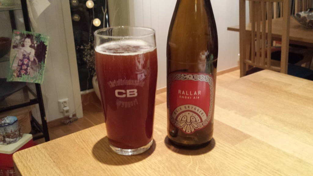 Grown-up Travel Guide Beer Diary Day 30: Rallar Amber Ale from Ægir Bryggeri, Norway