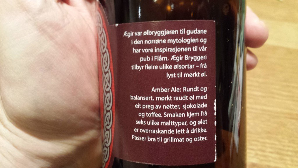 Grown-up Travel Guide Beer Diary Day 30: Rallar Amber Ale from Ægir Bryggeri, Norway - back, right