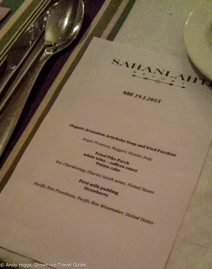 Sahanlahti final menu