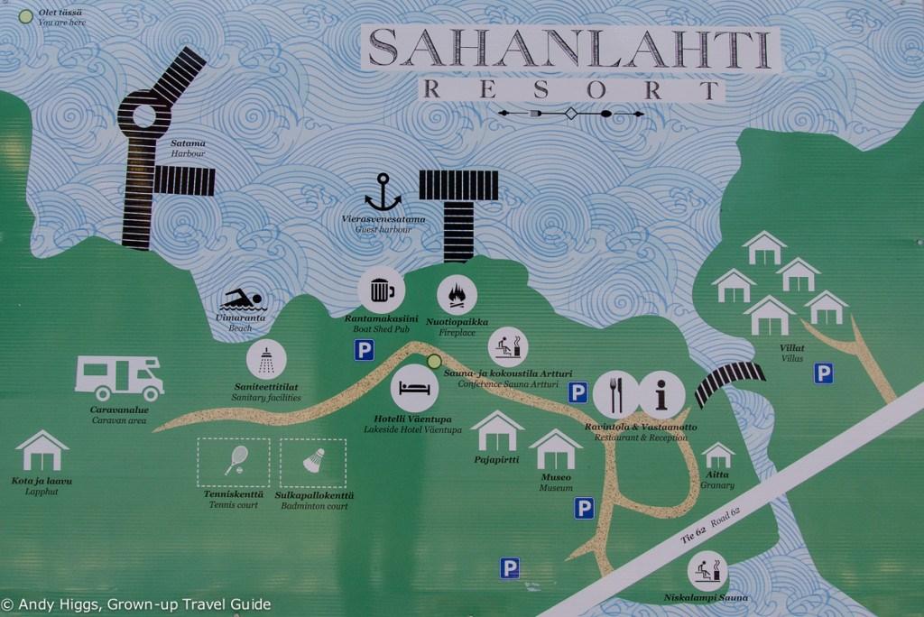 Sahanlahti map