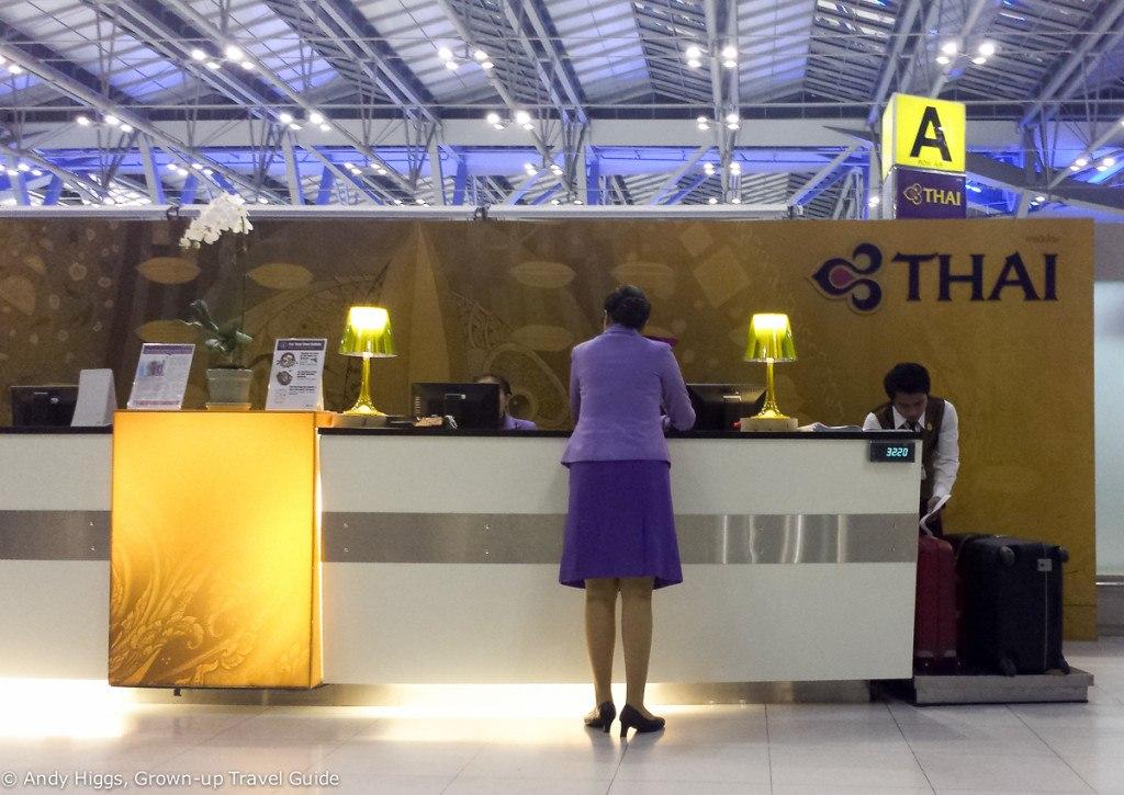 Thai First Class A380 BKK check-in