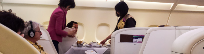 Thai First Class A380 Service