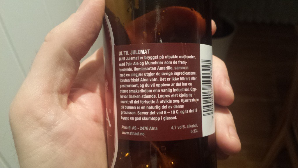 Grown-up Travel Guide Beer Diary Day 40: Øl till Julemat from Atna Øl, Norway - back, right