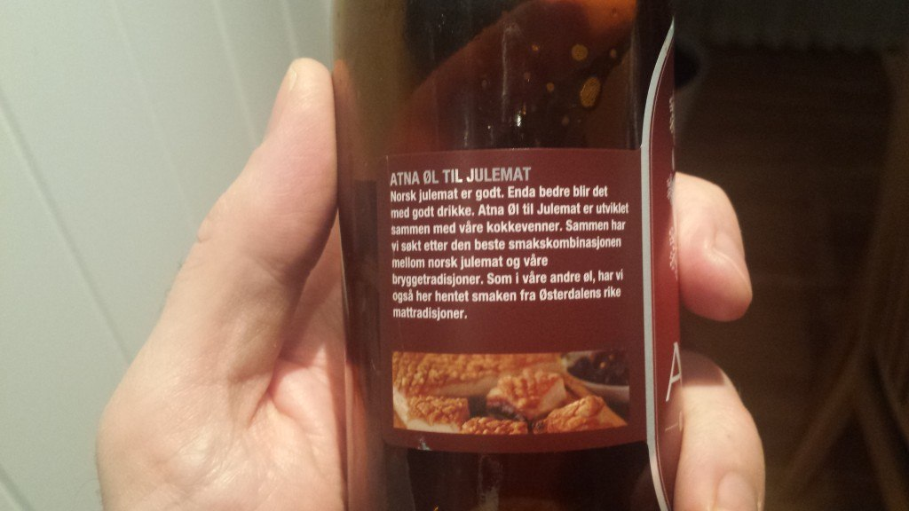 Grown-up Travel Guide Beer Diary Day 40: Øl till Julemat from Atna Øl, Norway - back, left