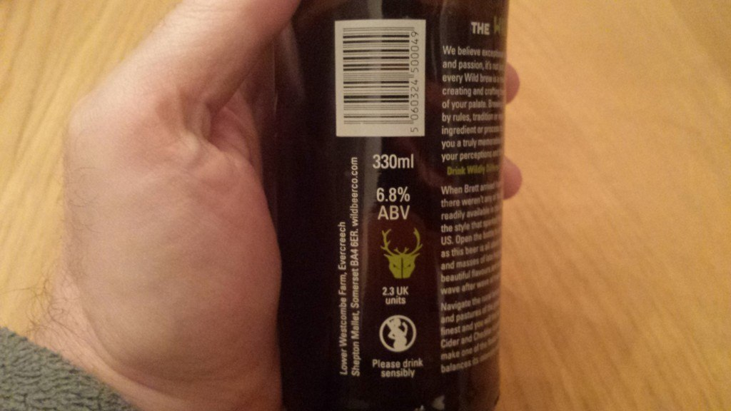 Grown-up Travel Guide Beer Diary Day 42: Madness IPA from The Wild Beer Co, Somerset, England - back. left