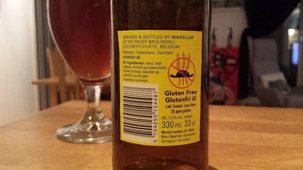 Grown-up Travel Guide Beer Diary Day 56: I Wish Gluten-free IPA from Mikkeller, Copenhagen, Denmark - back