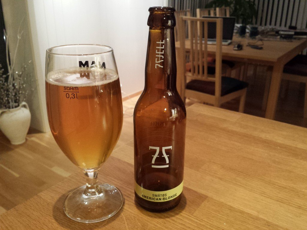 Grown-up Travel Guide Beer Diary Day 72: Småtøs American Blonde from 7 Fjell Bryggeri, Bergen, Norway