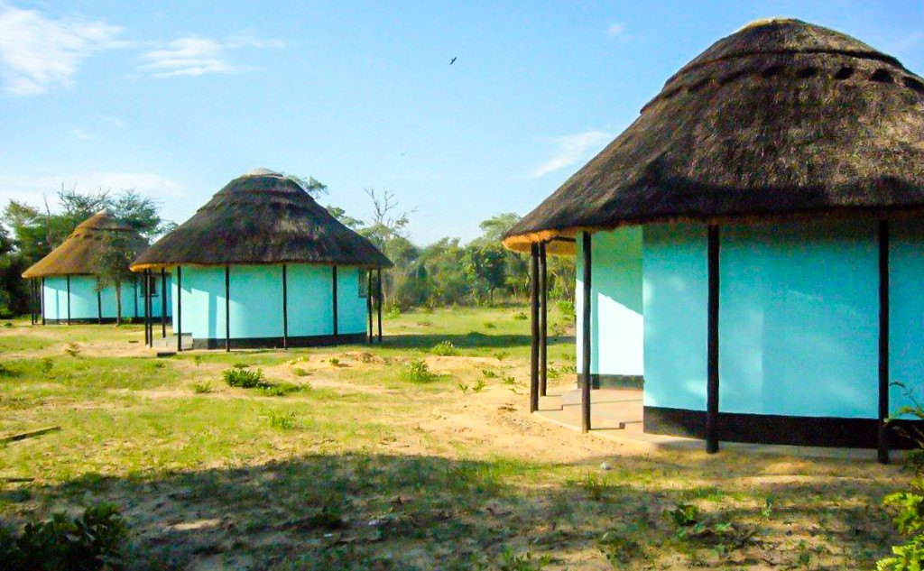 Teachers' houses at built at Ngamo High School soon after construction 2011