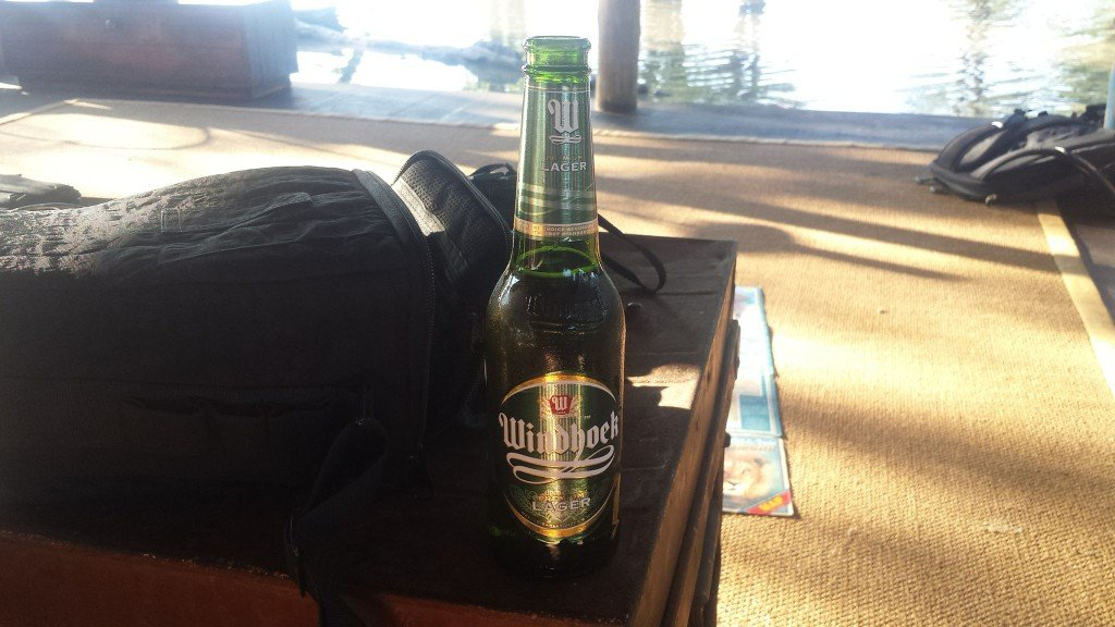 Grown-up Travel Guide Beer Diary Day 109: Windhoek Lager from Namibia Breweries Ltd of Namibia - front