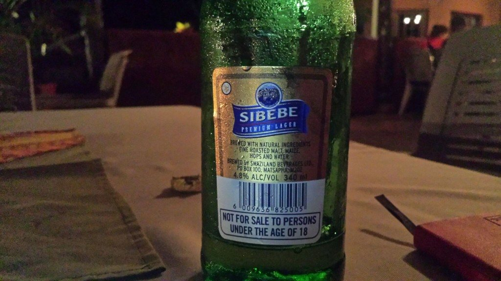 Grown-up Travel Guide Beer Diary Day 113: Sibebe from Swaziland Beverages Ltd of Matsapha, Swaziland - back