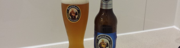 Grown-up Travel Guide Beer Diary Day 119: Alkoholfrei Naturtrubes Weissbier from Franziskaner of Munich, Germany