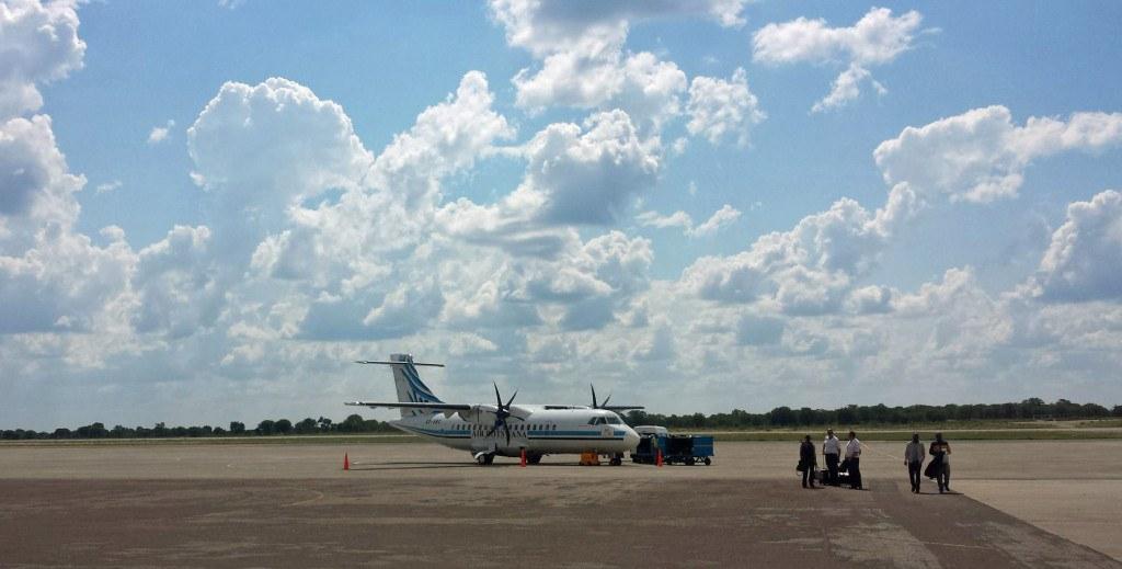Air Botswana plane after landing