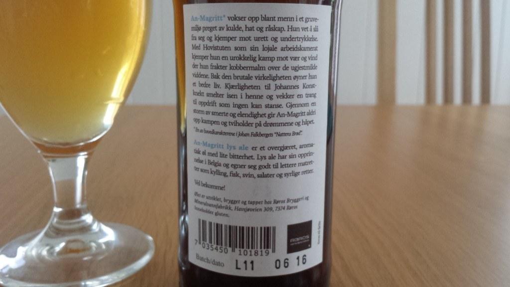 Grown-up Travel Guide Beer Diary - Day 215: An-Magritt from Røros Bryggeri og Mineralvannfabrikk of Røros, Norway