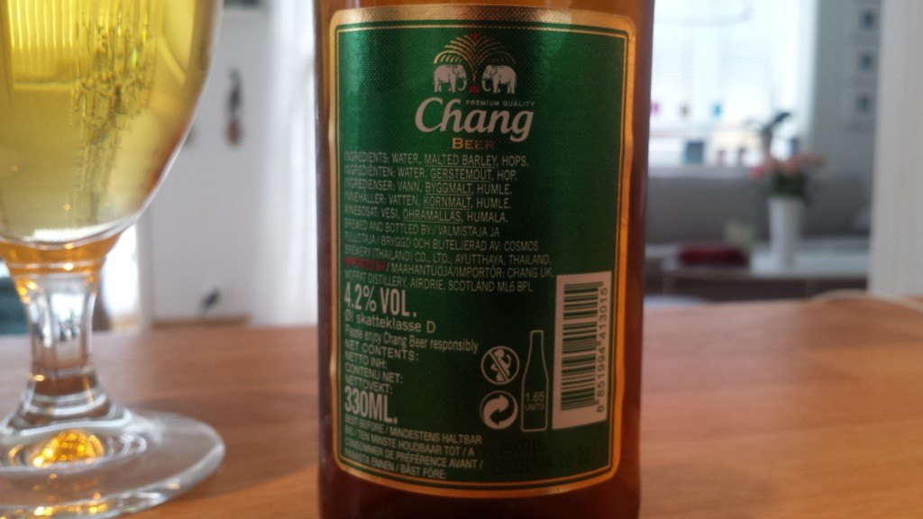 Grown-up Travel Guide Beer Diary - Day 216: Chang Beer from Cosmos Brewery of Ayutthaya, Thailand