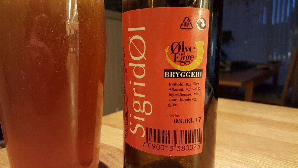 Grown-up Travel Guide Beer Diary - Day 225: SigridØl from Ølve på Egge Bryggeri of Steinkjer