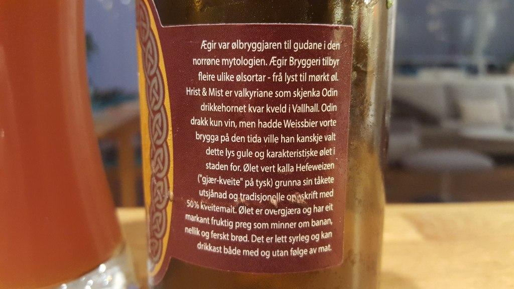 Grown-up Travel Guide Beer Diary - Day 226: Hrist & Mist from Ægir Bryggeri of Flåm, Norway