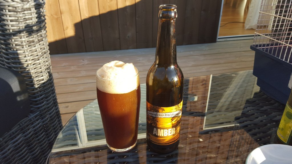 Grown-up Travel Guide Beer Diary - Day 228: Amber from Klostergården Håndbryggeri of Tautra, Norway