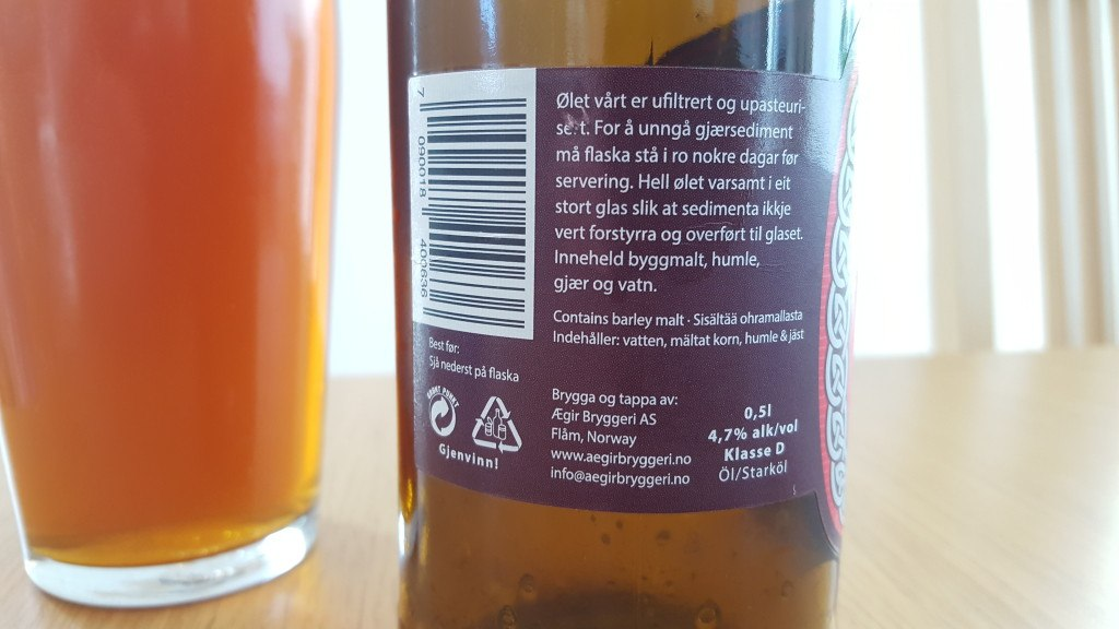 Grown-up Travel Guide Beer Diary - Day 234: Hlesey Sommer Red Lager from Ægir Bryggeri of Flåm, Norway