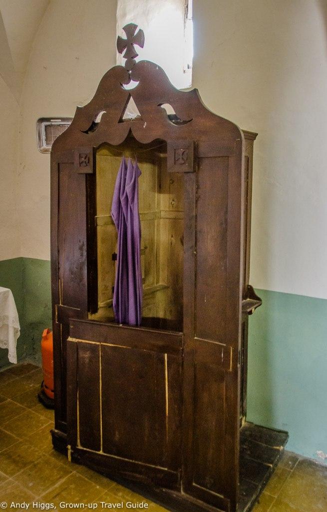 La Rectoria Church confession box