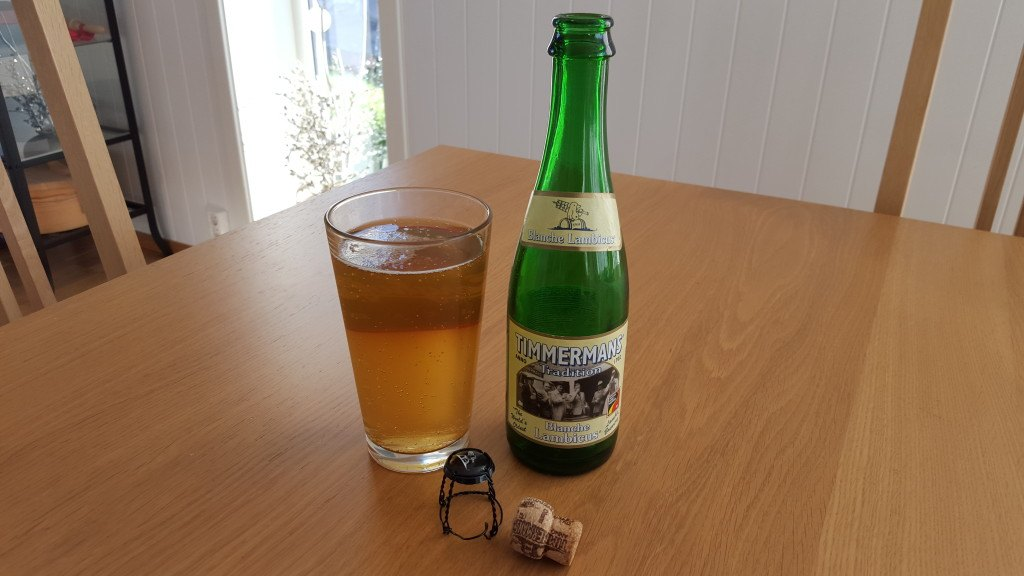 Grown-up Travel Guide Beer Diary - Day 246: Blanche Lambicus lambic beer from Timmermans of Itterbeek, Belgium