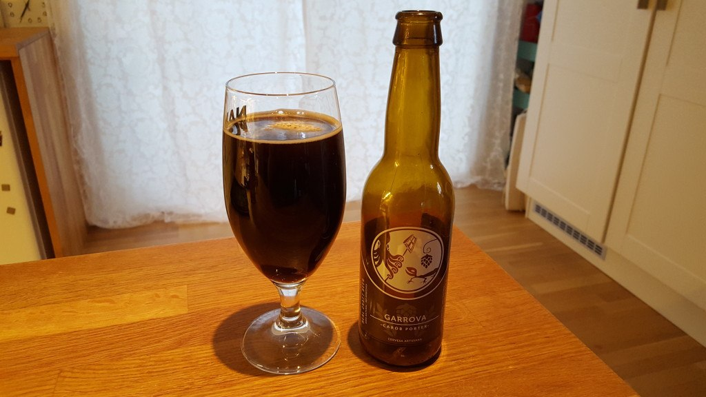 Grown-up Travel Guide Beer Diary - Day 258: Garrova Carob Porter from Cerveses Popaire of Blanes, Catalonia, Spain with Ibosim Craft Beers