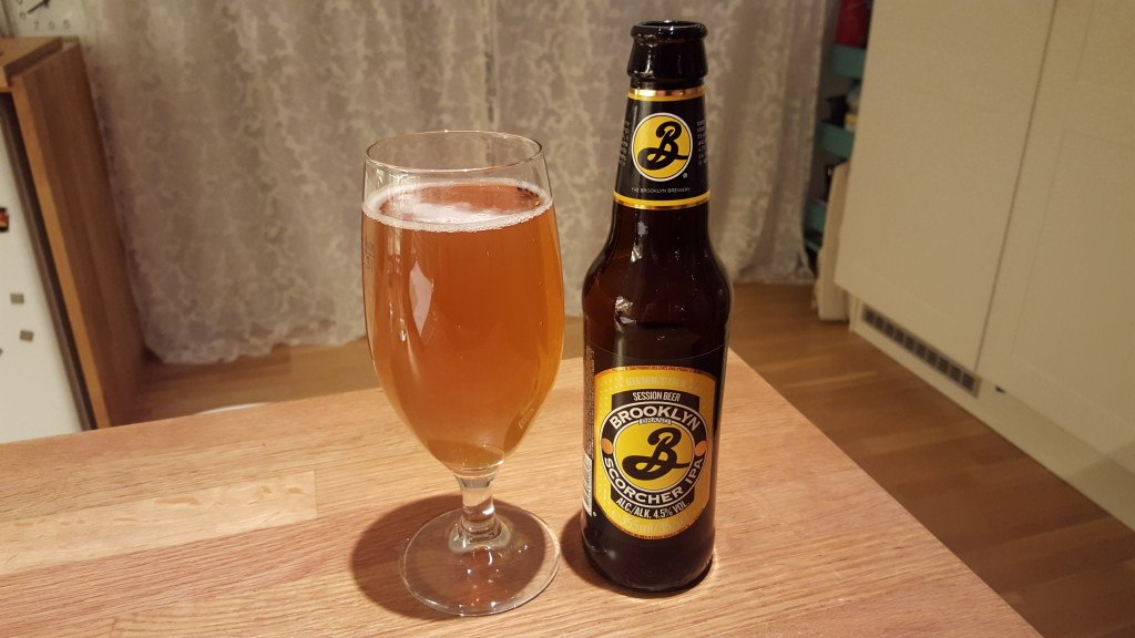 Grown-up Travel Guide Beer Diary - Day 278: Scorcher IPA from Brooklyn Brewery of New York, USA