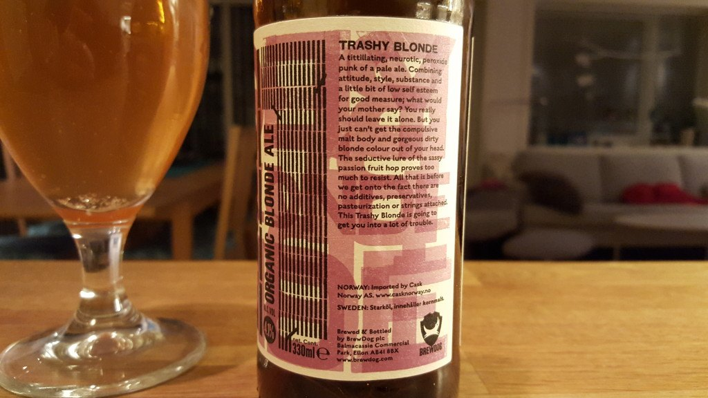 Grown-up Travel Guide Beer Diary - Day 332: Trashy Blonde from Brewdog of Ellon, Scotland