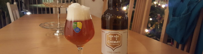 Grown-up Travel Guide Beer Diary - Day 365: Chimay Blonde Cinq Cents 2015 from Bieres de Chimay of Baileux, Belgium