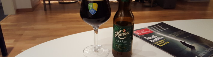 Grown-up Travel Guide Beer Diary - Number 382: Juleale from Hansa Borg Bryggerier of Kokstad, Norway