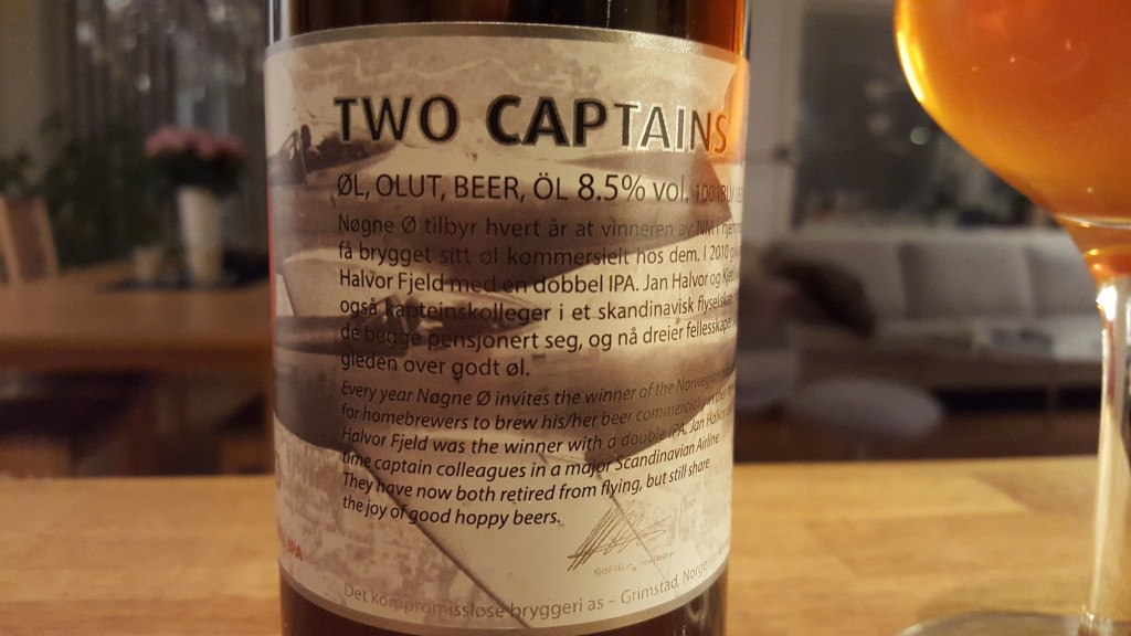 Grown-up Travel Guide Beer Diary - Number 395: Two Captains from Nøgne Ø of Grimstad, Norway