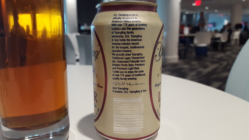 Grown-up Travel Guide Beer Diary - Number 393: Traditional Lager from Yuengling Brewery of Pottsville, USA