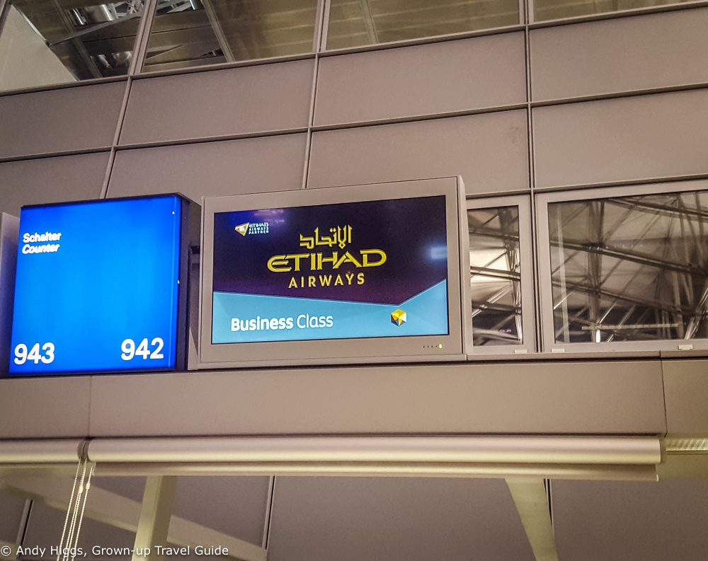 Etihad check in Frankfurt