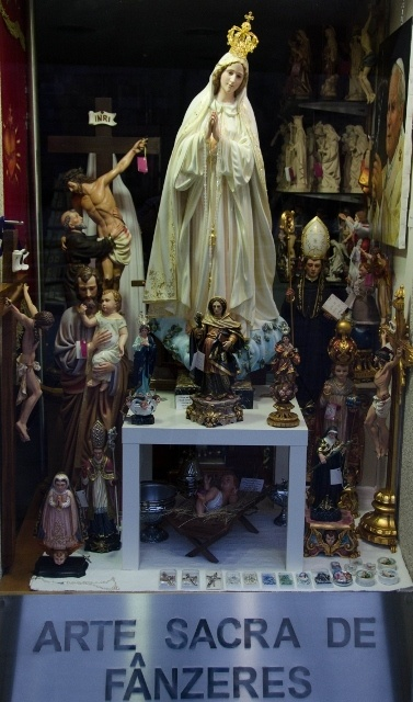 Catholic souvenir shop, Braga, Portugal
