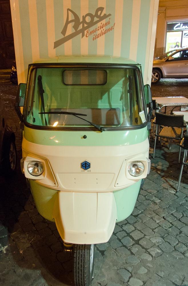 Piaggio Ape mini truck, Rome, Italy