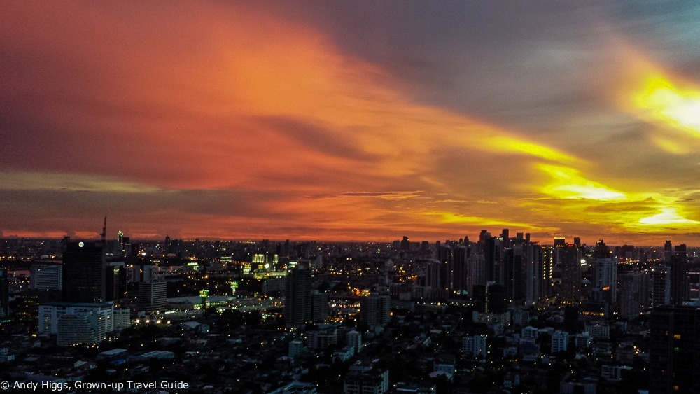 Sunset from Octave Bangkok Marriott Sukhumvit