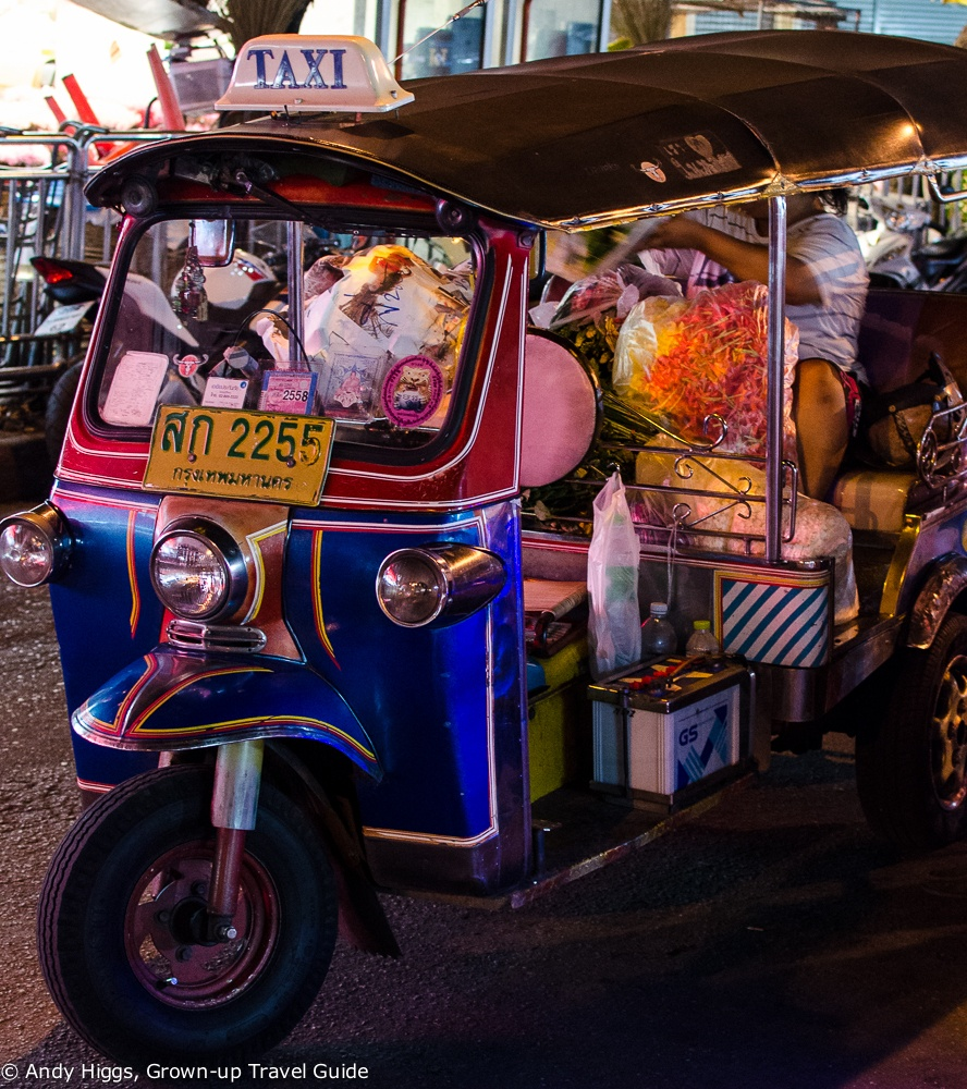Tuktuk at market