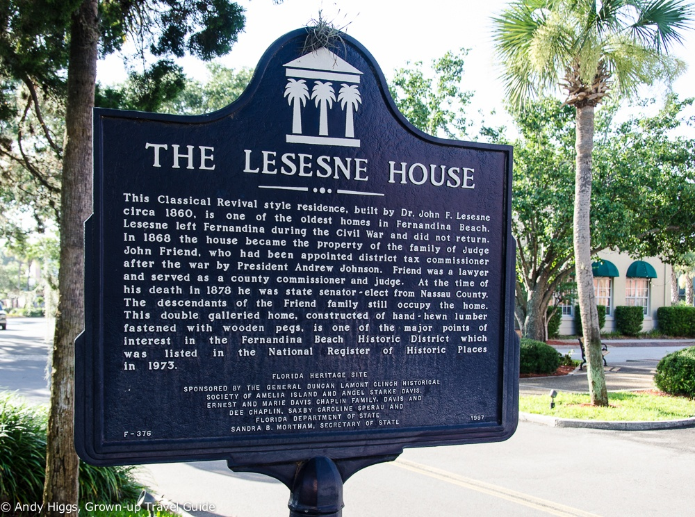 Fernandina Beach, Lesesne House sign