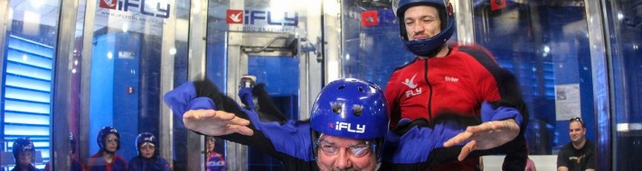 iFly Andy in flight