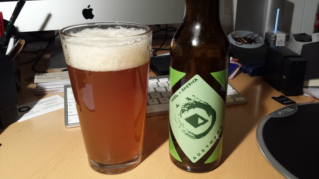 Grown-up Travel Guide Beer Diary Day 28: Onkel i America (Uncle in America) from Austmann Bryggeri, Trondheim, Norway