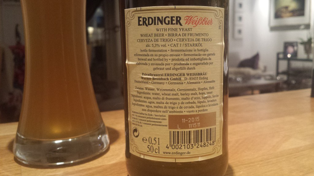 Grown-up Travel Guide Beer Diary Day 28: Hefe Weissbier from Erdinger, Germany - back