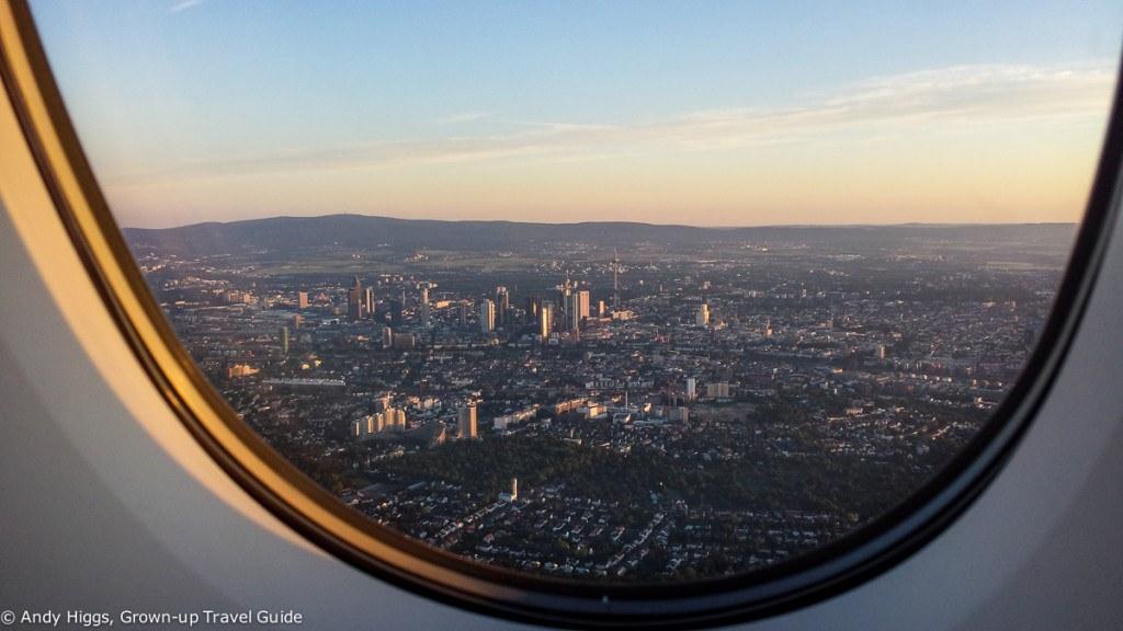 Thai First Class A380 BKK to Frankfurt landing