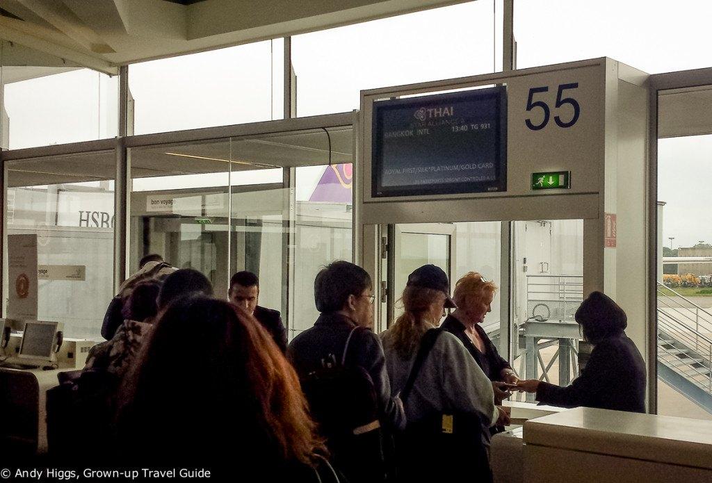 Thai First Class A380 Boarding Paris